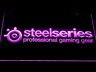 SteelSeries LED Neon Sign - Purple - SafeSpecial
