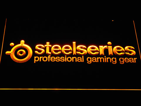 Image of SteelSeries LED Neon Sign - Yellow - SafeSpecial