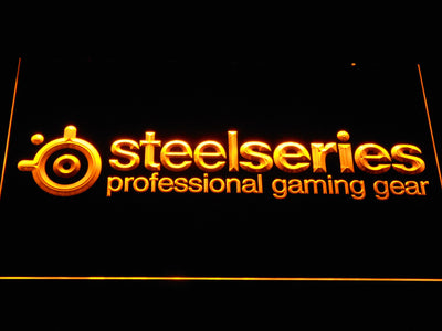 SteelSeries LED Neon Sign - Yellow - SafeSpecial