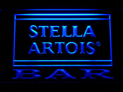 Stella Artois Bar LED Neon Sign - Blue - SafeSpecial