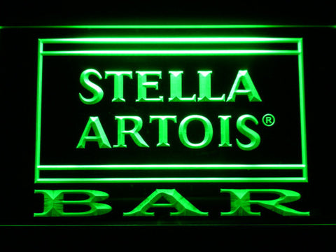 Image of Stella Artois Bar LED Neon Sign - Green - SafeSpecial