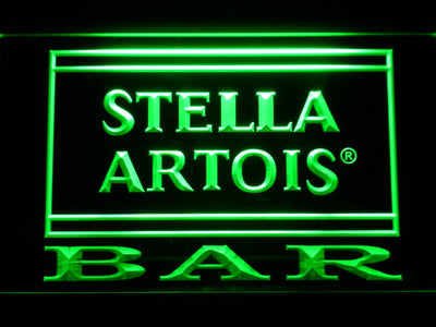 Stella Artois Bar LED Neon Sign - Green - SafeSpecial