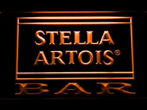 Image of Stella Artois Bar LED Neon Sign - Orange - SafeSpecial
