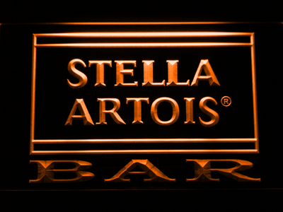 Stella Artois Bar LED Neon Sign - Orange - SafeSpecial
