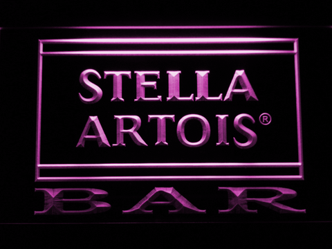 Image of Stella Artois Bar LED Neon Sign - Purple - SafeSpecial