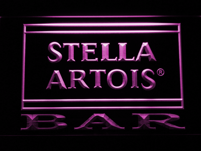 Stella Artois Bar LED Neon Sign - Purple - SafeSpecial