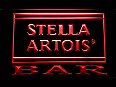 Image of Stella Artois Bar LED Neon Sign - Red - SafeSpecial