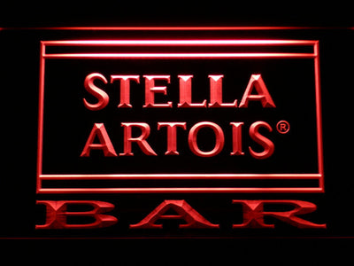 Stella Artois Bar LED Neon Sign - Red - SafeSpecial