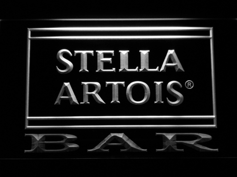Image of Stella Artois Bar LED Neon Sign - White - SafeSpecial