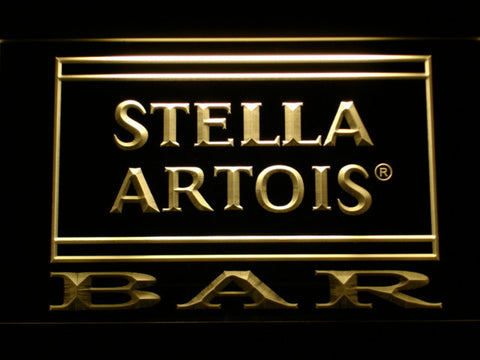 Image of Stella Artois Bar LED Neon Sign - Yellow - SafeSpecial