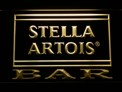 Stella Artois Bar LED Neon Sign - Yellow - SafeSpecial