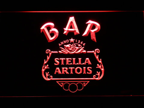 Image of Stella Artois Crest Bar LED Neon Sign - Red - SafeSpecial