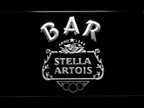 Image of Stella Artois Crest Bar LED Neon Sign - White - SafeSpecial