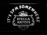Stella Artois Crest It's 5pm Somewhere LED Neon Sign - White - SafeSpecial