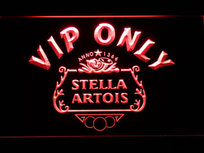 Stella Artois Crest VIP Only LED Neon Sign - Red - SafeSpecial