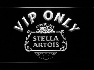 Stella Artois Crest VIP Only LED Neon Sign - White - SafeSpecial