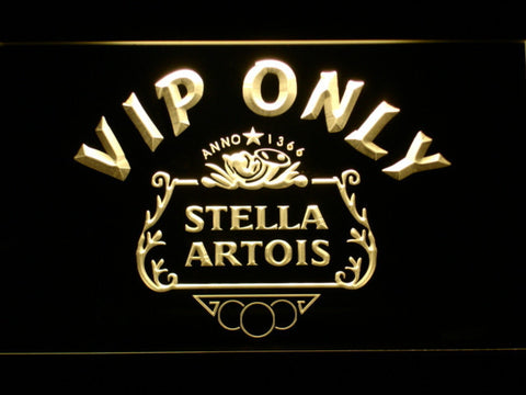 Image of Stella Artois Crest VIP Only LED Neon Sign - Yellow - SafeSpecial