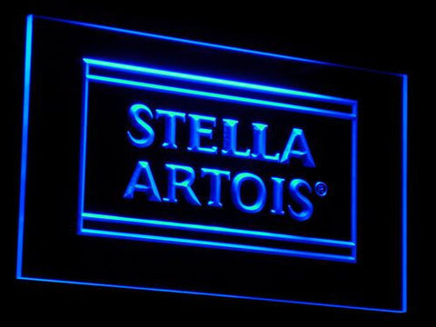 Image of Stella Artois LED Neon Sign - Blue - SafeSpecial