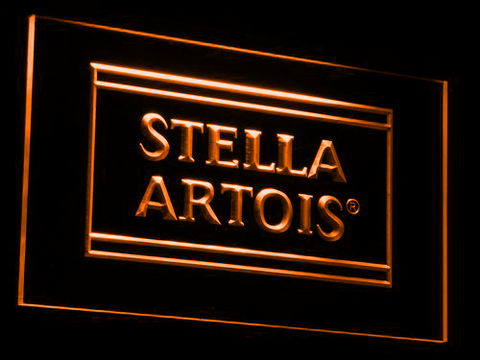 Image of Stella Artois LED Neon Sign - Orange - SafeSpecial