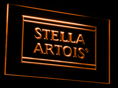 Stella Artois LED Neon Sign - Orange - SafeSpecial