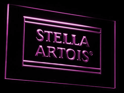Stella Artois LED Neon Sign - Purple - SafeSpecial