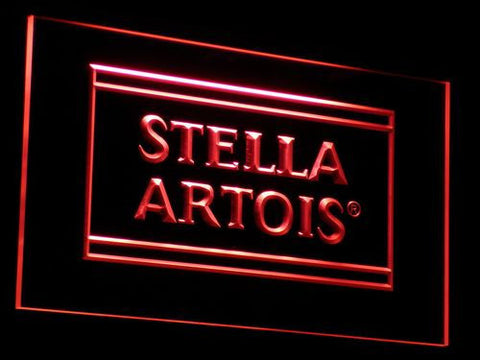 Image of Stella Artois LED Neon Sign - Red - SafeSpecial