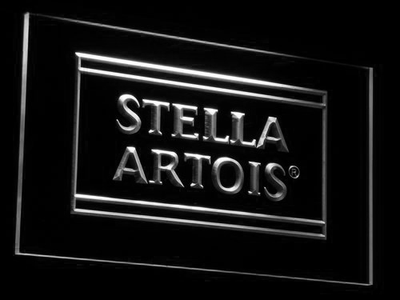 Stella Artois LED Neon Sign - White - SafeSpecial