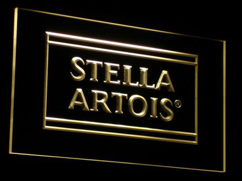 Image of Stella Artois LED Neon Sign - Yellow - SafeSpecial