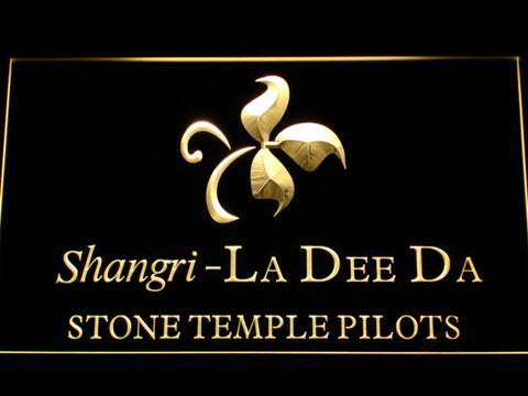 Stone Temple Pilots Shangri-La Dee Da LED Neon Sign - Yellow - SafeSpecial