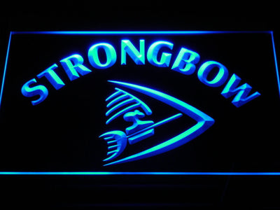 Strongbow LED Neon Sign - Blue - SafeSpecial