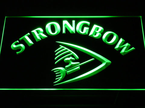 Strongbow LED Neon Sign - Green - SafeSpecial
