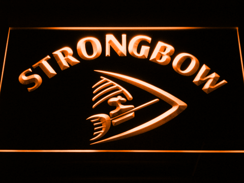 Image of Strongbow LED Neon Sign - Orange - SafeSpecial