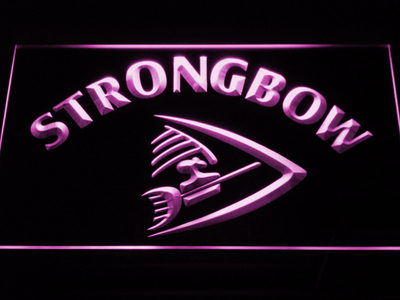 Strongbow LED Neon Sign - Purple - SafeSpecial