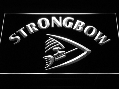 Strongbow LED Neon Sign - White - SafeSpecial