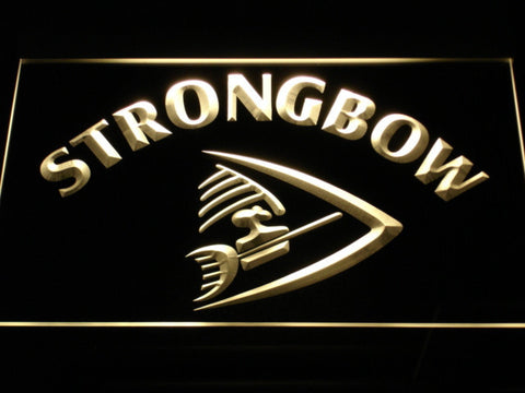 Image of Strongbow LED Neon Sign - Yellow - SafeSpecial