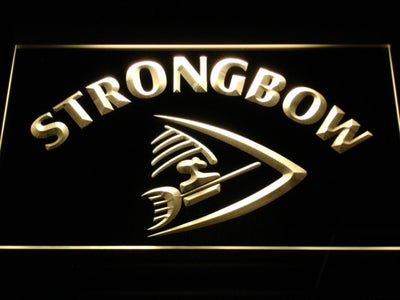 Strongbow LED Neon Sign - Yellow - SafeSpecial