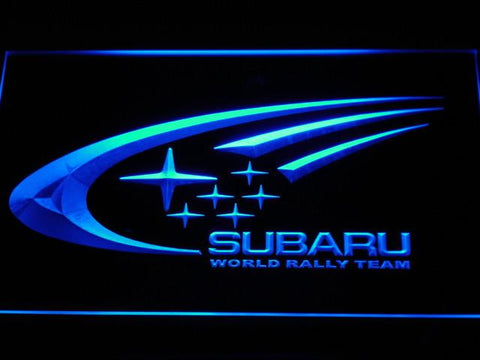 Image of Subaru World Rally Team LED Neon Sign - Blue - SafeSpecial