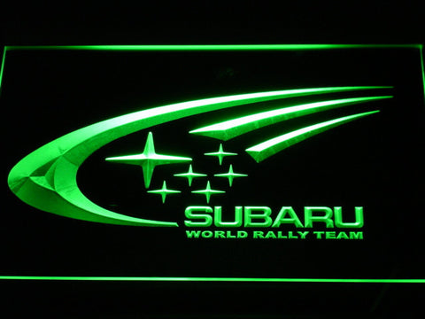 Image of Subaru World Rally Team LED Neon Sign - Green - SafeSpecial