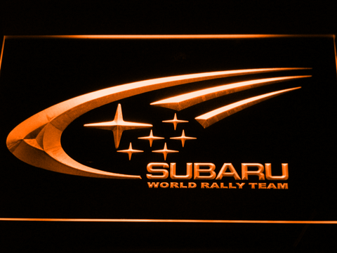 Image of Subaru World Rally Team LED Neon Sign - Orange - SafeSpecial