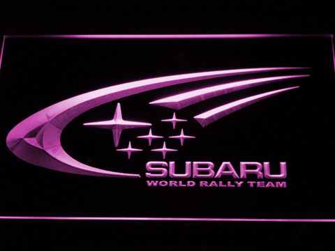 Image of Subaru World Rally Team LED Neon Sign - Purple - SafeSpecial
