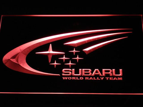 Image of Subaru World Rally Team LED Neon Sign - Red - SafeSpecial