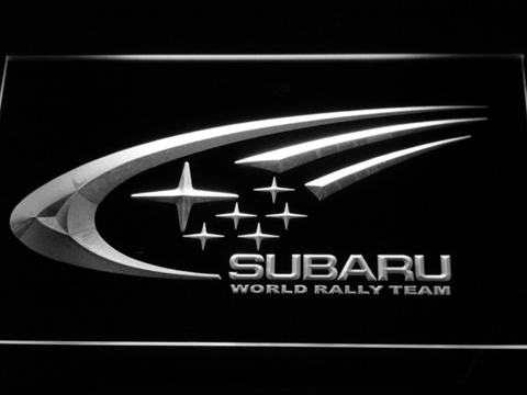 Image of Subaru World Rally Team LED Neon Sign - White - SafeSpecial