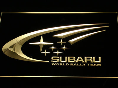 Subaru World Rally Team LED Neon Sign - Yellow - SafeSpecial
