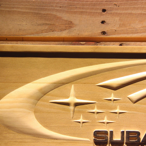 Image of Subaru World Rally Team Wooden Sign - - SafeSpecial