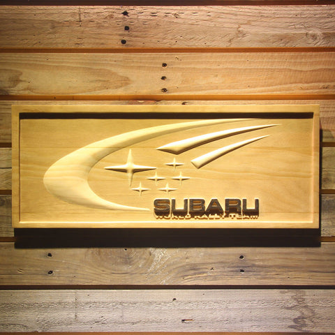 Subaru World Rally Team Wooden Sign - Small - SafeSpecial