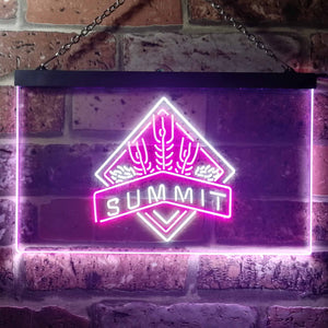 Summit Brewing Co. Summit Logo Neon-Like LED Sign - Dual Color