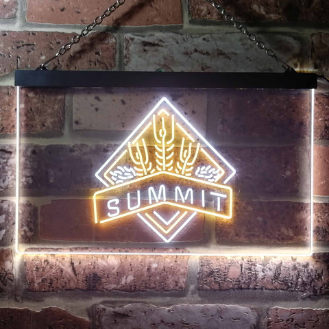 Image of Summit Brewing Co. Summit Logo Neon-Like LED Sign - Dual Color