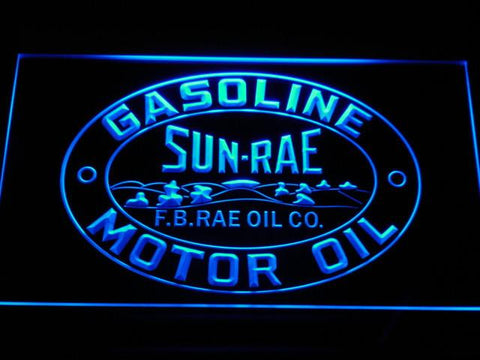 Sunrae Gasoline & Motor Oil LED Neon Sign - Blue - SafeSpecial
