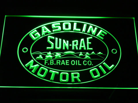 Sunrae Gasoline & Motor Oil LED Neon Sign - Green - SafeSpecial