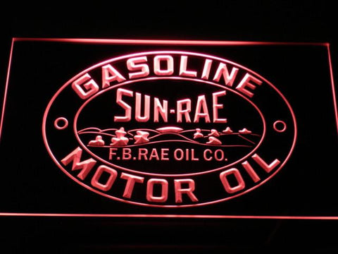 Image of Sunrae Gasoline & Motor Oil LED Neon Sign - Red - SafeSpecial